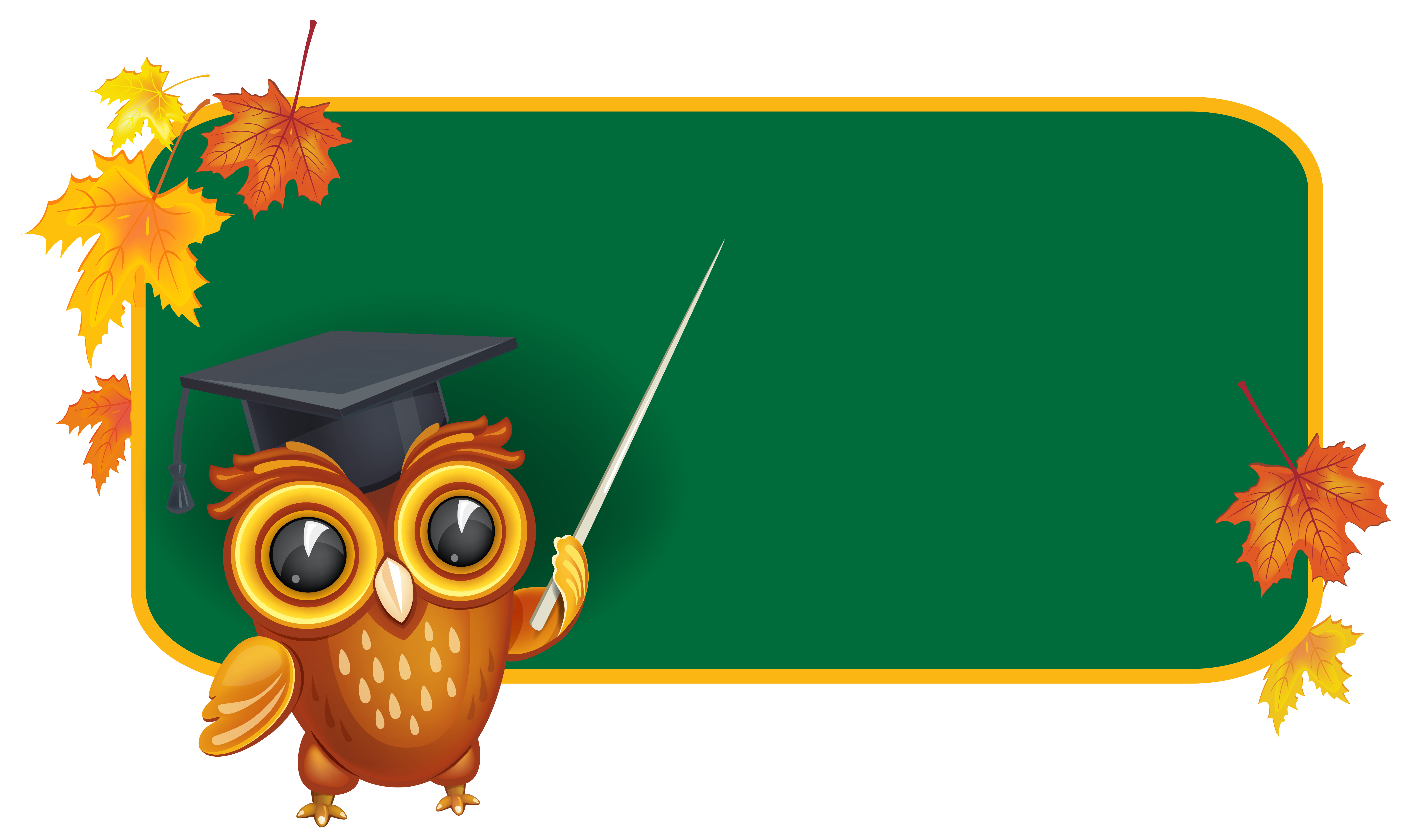 Owl background clipart clip art freeuse library Owl with School Board PNG Clipart Image | Gallery ... clip art freeuse library