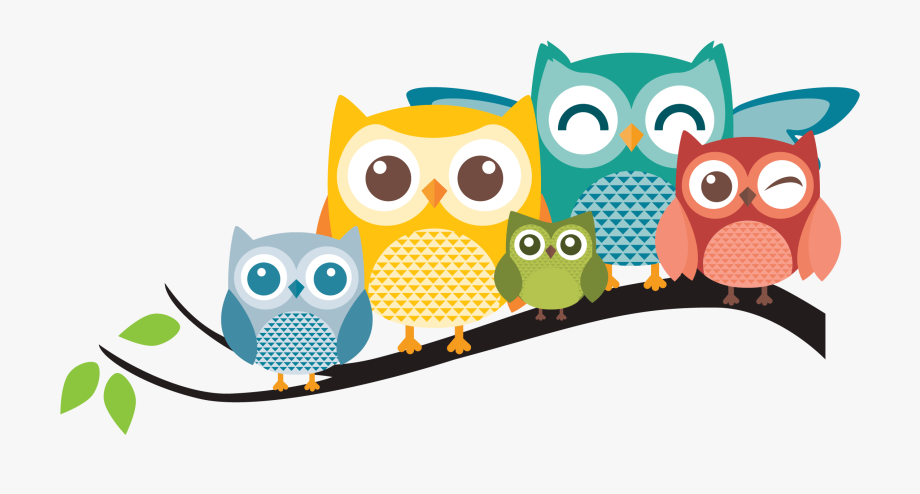 Owl background clipart png transparent stock Cartoon Owl Personalized Owl Family Pillow The ... png transparent stock