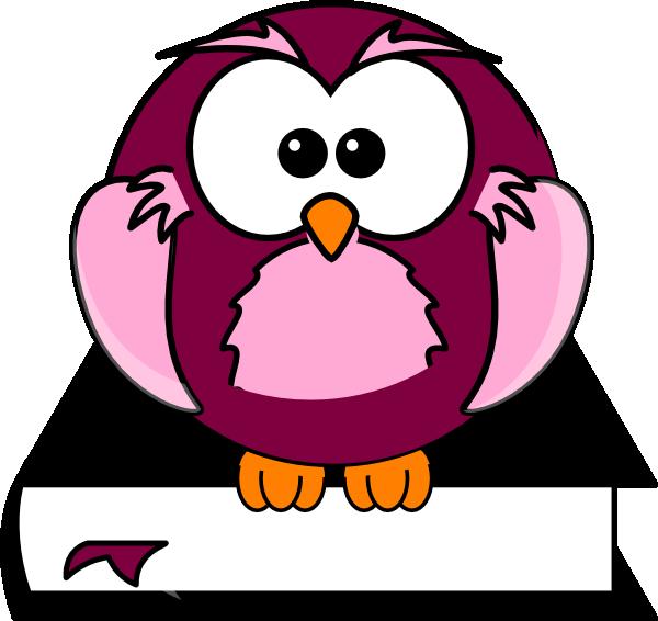 Owl book black and white clipart clip black and white Purple Owl On Book Black And White Clip Art at Clker.com - vector ... clip black and white