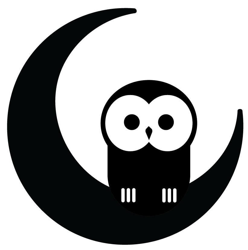 Owl book black and white clipart banner royalty free stock Night Owl Books banner royalty free stock