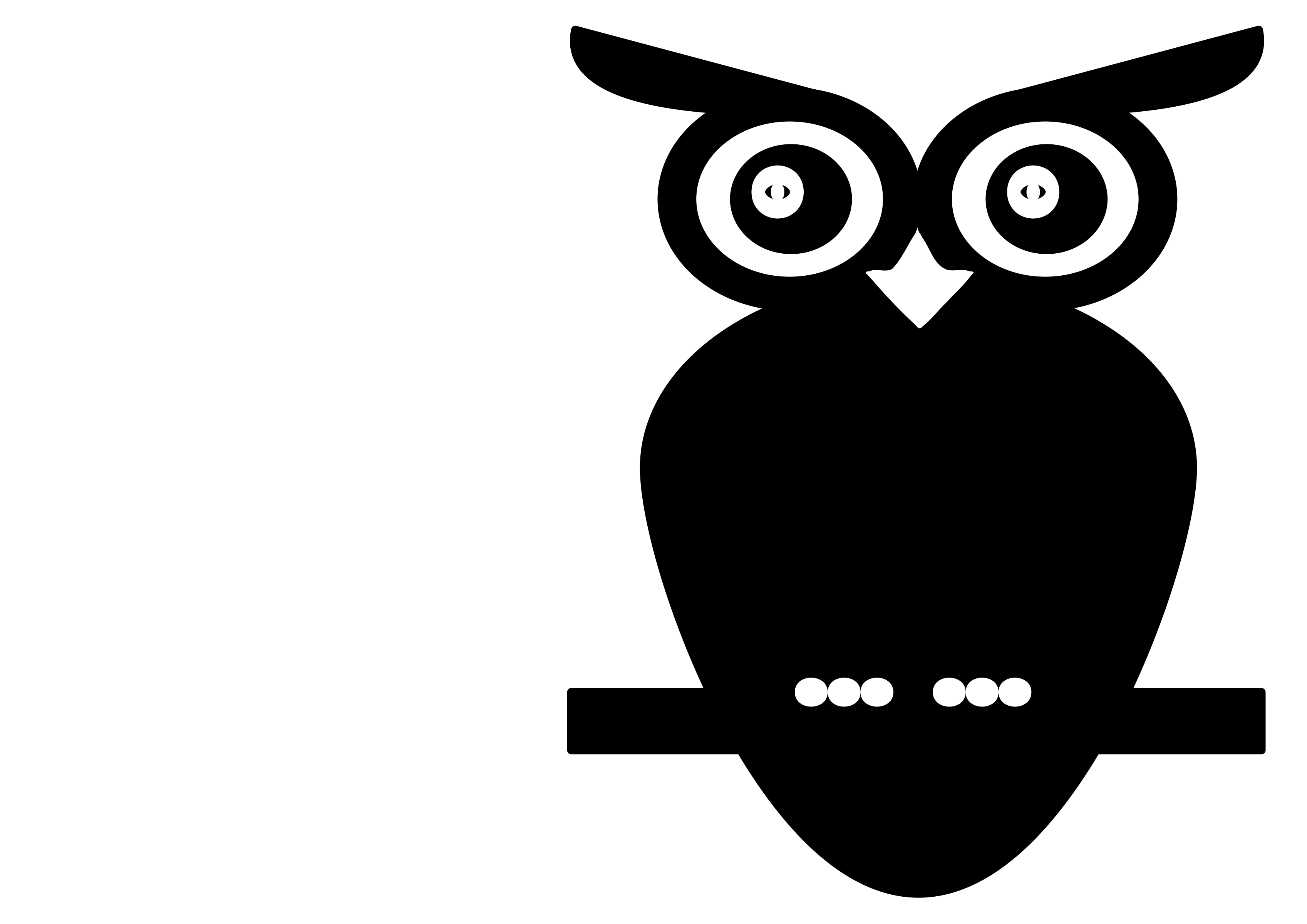 Owl book black and white clipart graphic transparent library Black and White Owl Icons PNG - Free PNG and Icons Downloads graphic transparent library