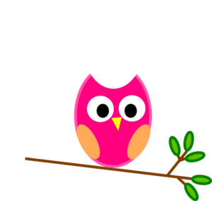 Owl clipart graphic banner free stock Pink Owl Clip Art at Clker.com - vector clip art online, royalty ... banner free stock