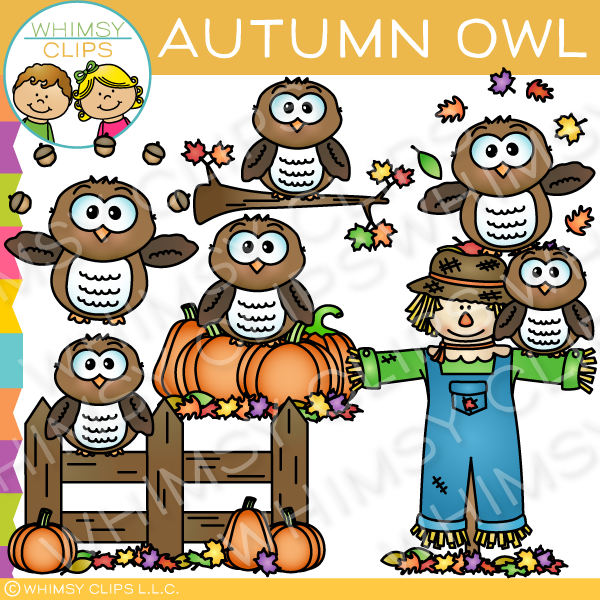 Owl clipart whimsy clips banner freeuse library Cute owl clip art , Images & Illustrations   Whimsy Clips ® banner freeuse library