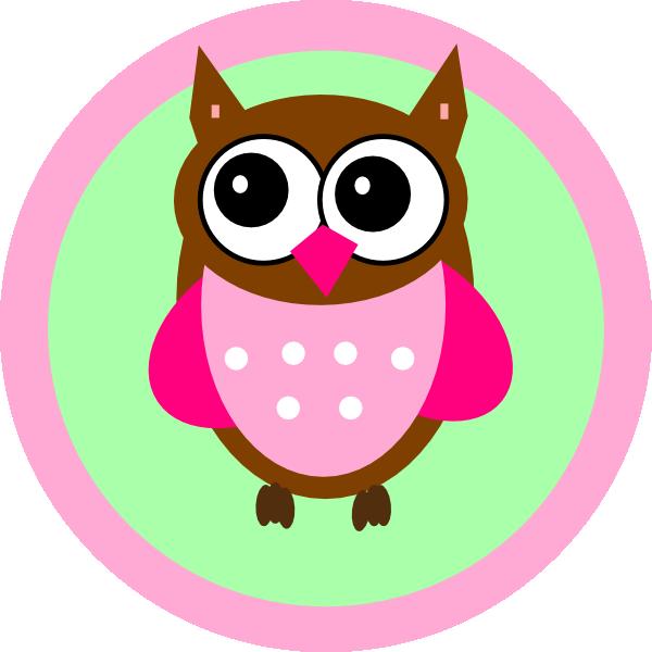 Owl heart clipart image freeuse download Pink Owl Tag Clip Art at Clker.com - vector clip art online, royalty ... image freeuse download