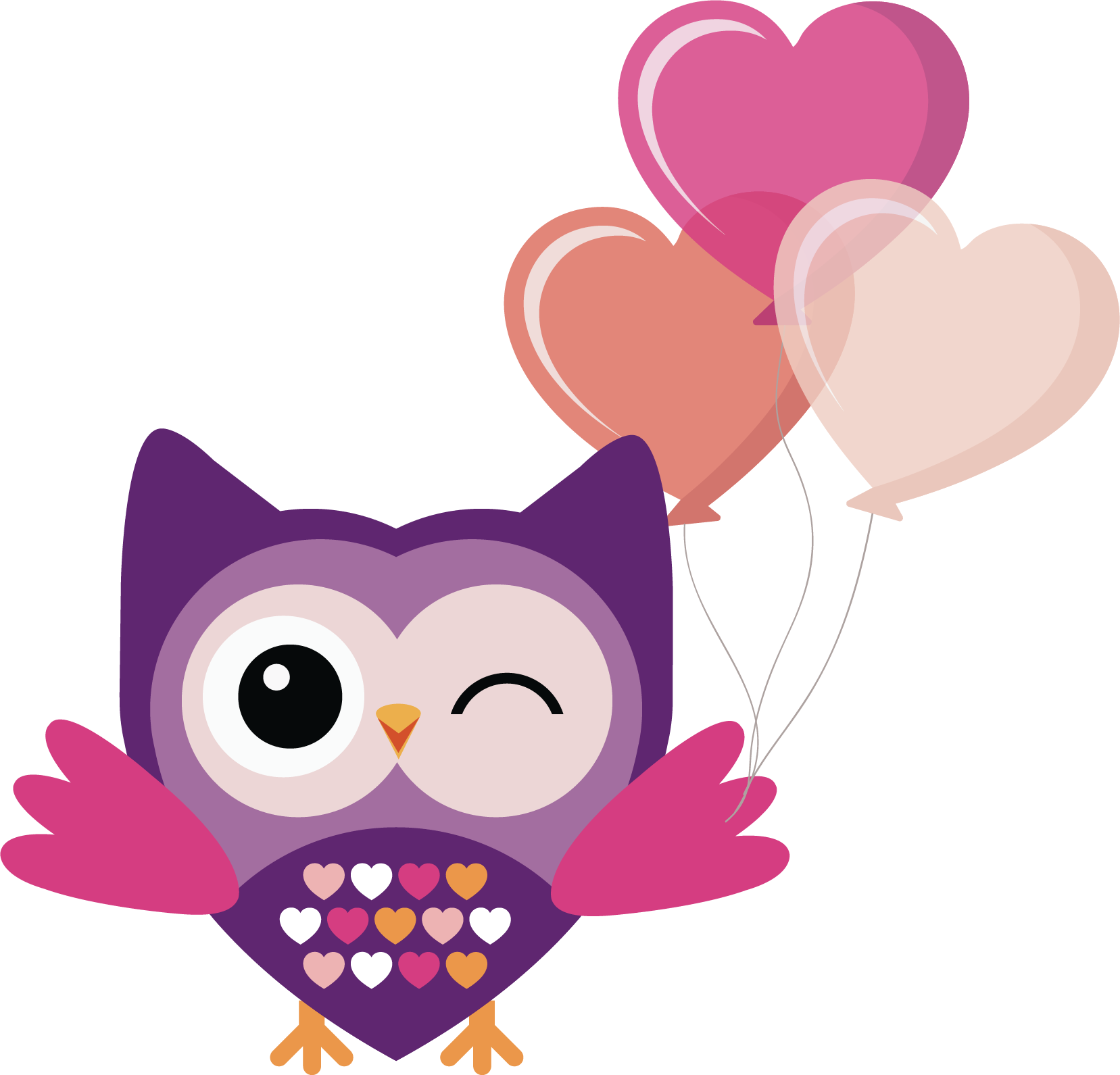 Owl heart clipart vector library download Owl PNG Transparent Free Images | PNG Only vector library download