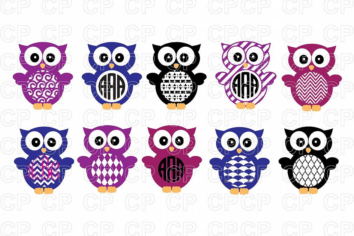 Owl monogram clipart svg transparent download Owl SVG Bundle Cut Files, Owl Clipart svg transparent download