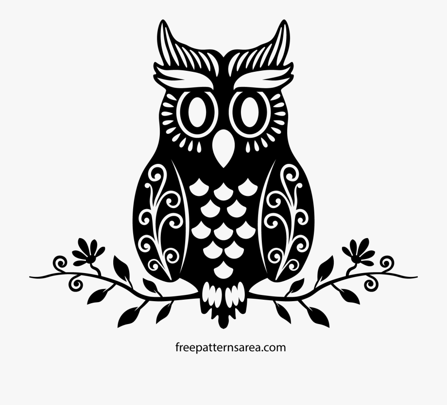 Owl on branch clipart black and white vector royalty free stock Clipart Free Download Owl On A Branch Clipart Black - Owl ... vector royalty free stock