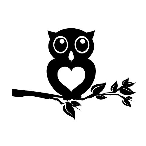 Owl on branch clipart black and white svg free stock Free Owl On A Branch Silhouette, Download Free Clip Art ... svg free stock