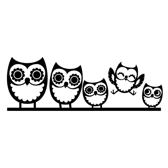 Owl on branch clipart black and white image transparent library Owl On Branch Drawing   Free download best Owl On Branch ... image transparent library