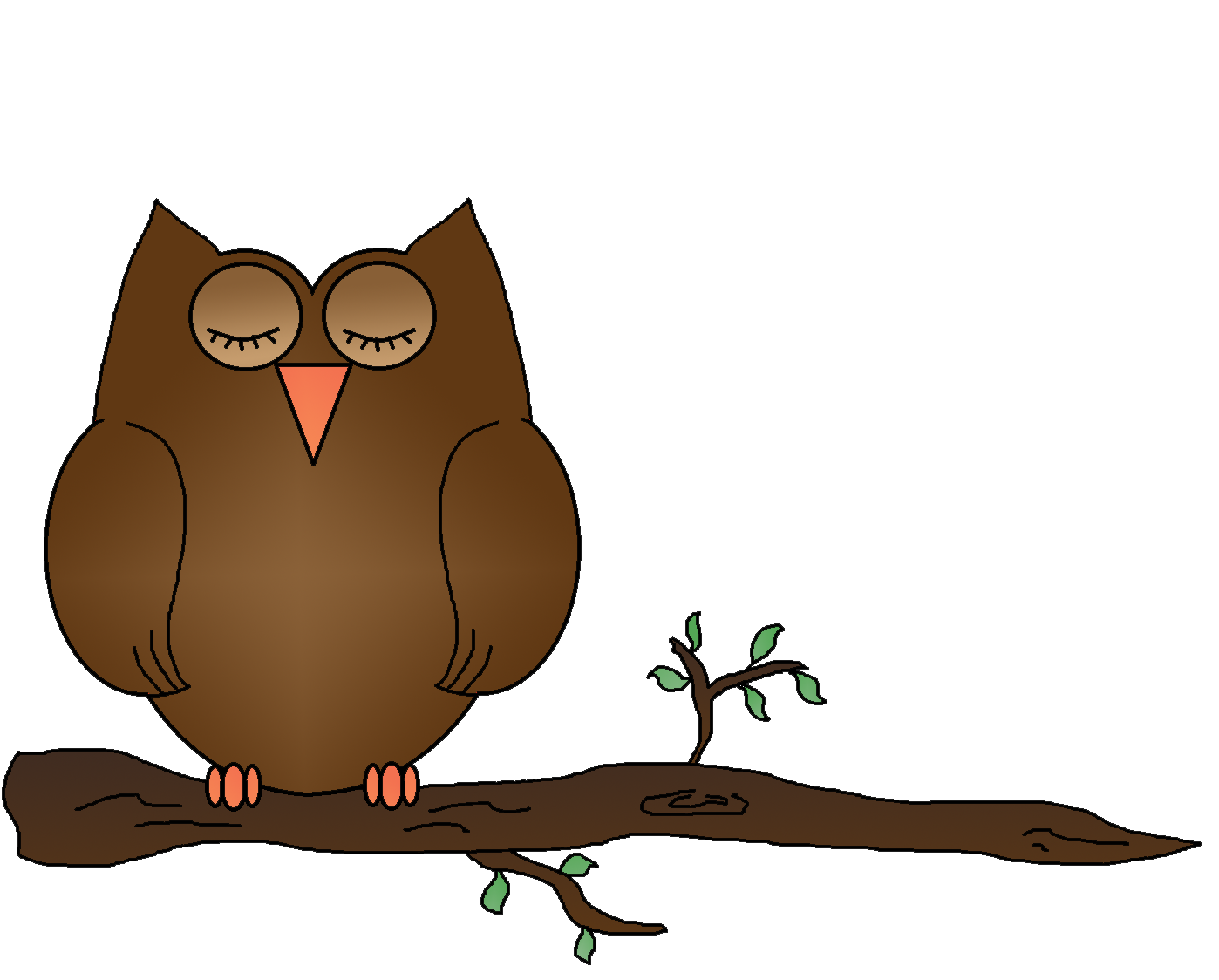 Owl on tree clipart clip black and white Owl Clipart For Kids at GetDrawings.com | Free for personal use Owl ... clip black and white