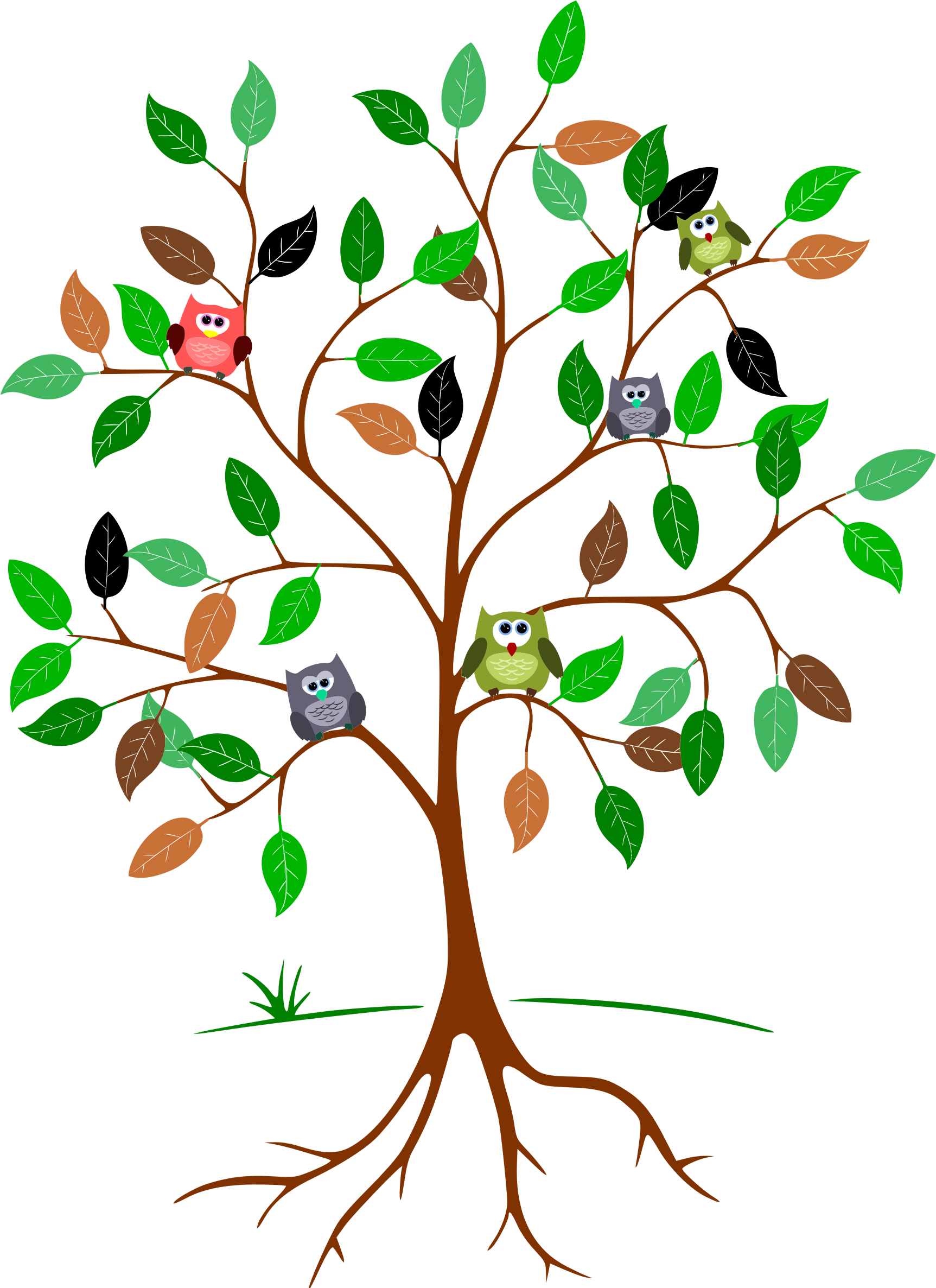 Tree with owl clipart png royalty free Owls In A Tree Icons PNG - Free PNG and Icons Downloads png royalty free