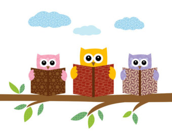 Owl with books clipart image free library Owl reading a book clipart - ClipartFest image free library