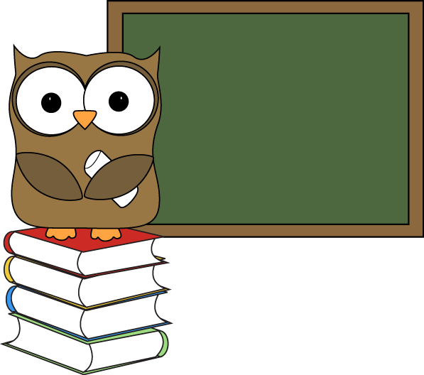 Chalkboard pictures clip art jpg free Owl Carrying Books Clipart - Clipart Kid jpg free