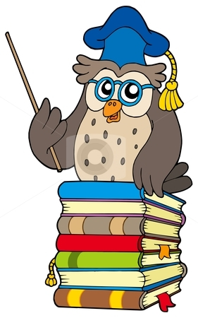 Owl with books clipart image freeuse library Owl Book Clipart | Clipart Panda - Free Clipart Images image freeuse library