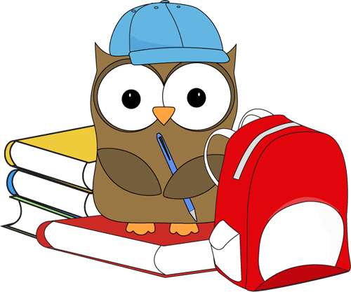 Owl with books clipart graphic royalty free Cute school owl on books clipart - ClipartFest graphic royalty free