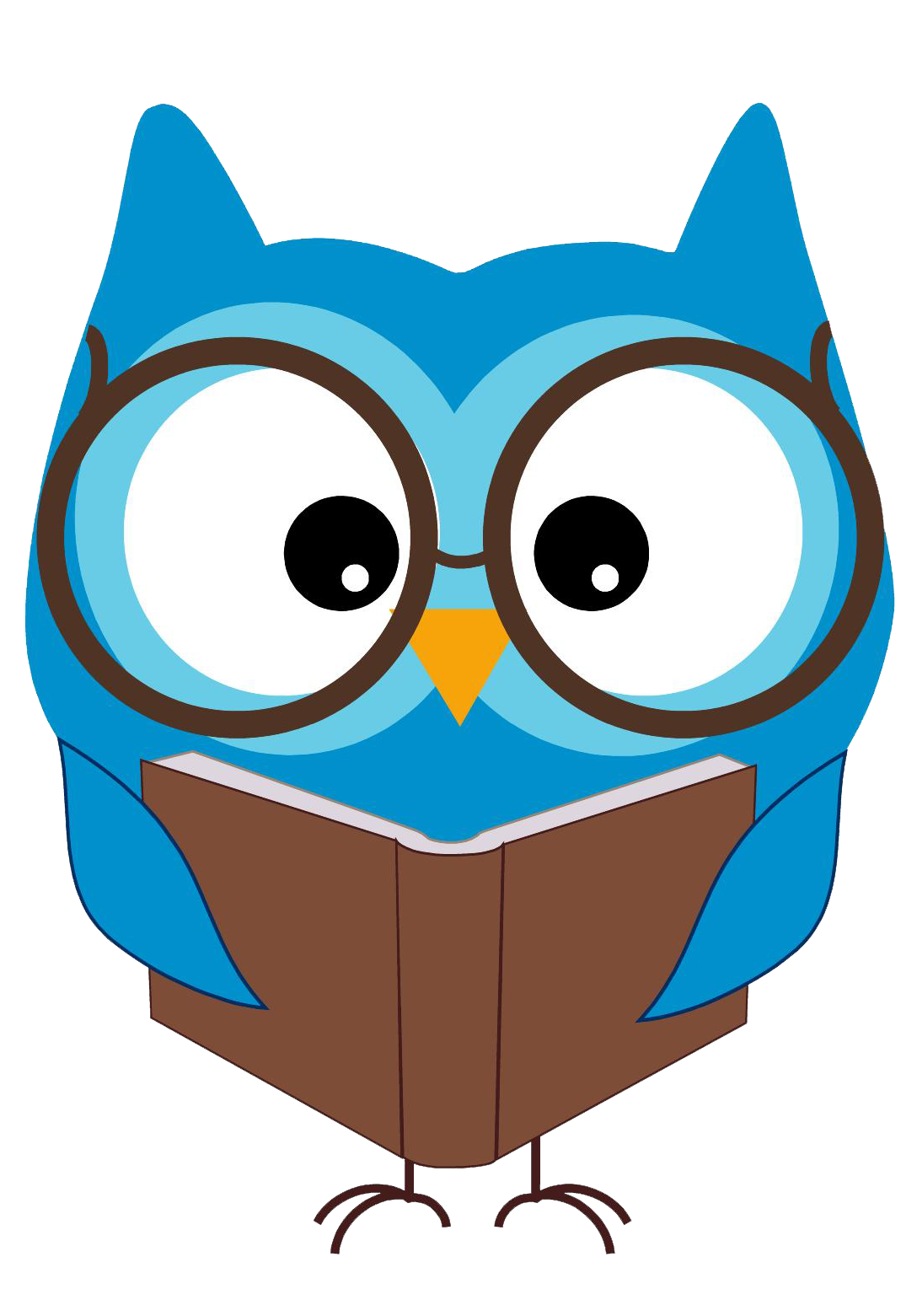 Owl with books clipart graphic library download Owl with books clipart - ClipartFest graphic library download