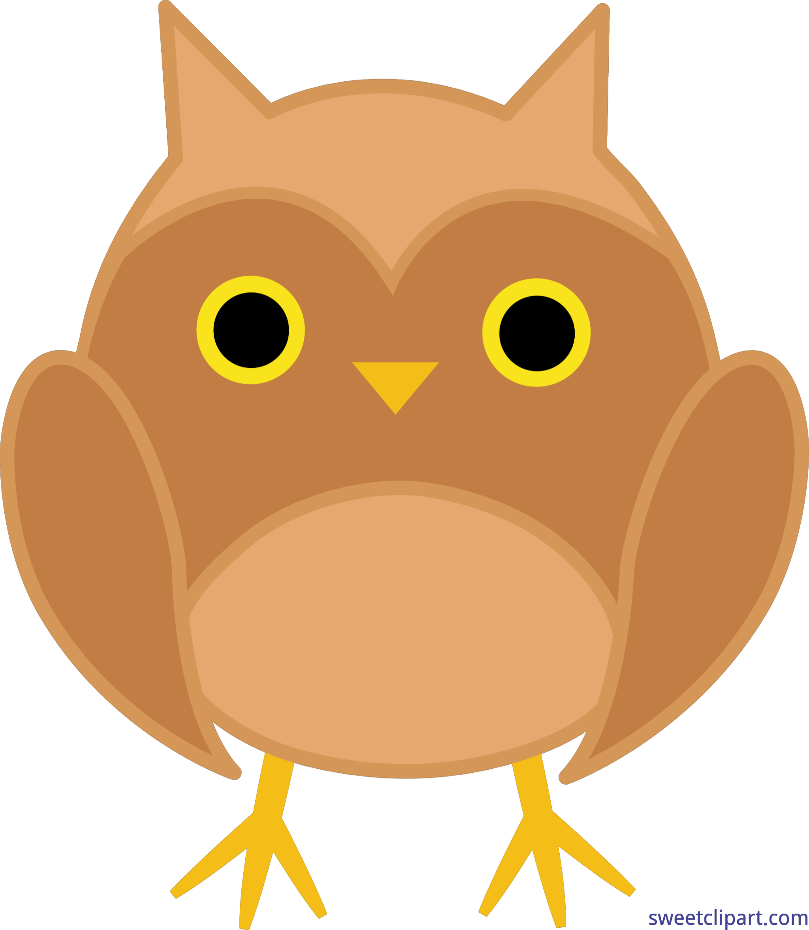 Owl with crown clipart banner royalty free library Owl Cute Brown Clip Art - Sweet Clip Art banner royalty free library