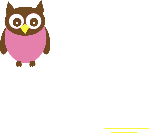 Owls in a tree clipart vector transparent download Pink Baby Owl Clipart | Clipart Panda - Free Clipart Images vector transparent download