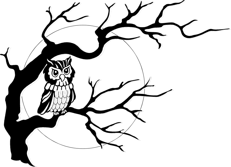 Owls in a tree clipart image free library Owl | Free Stock Photo | Illustration of an owl in a tree in front ... image free library