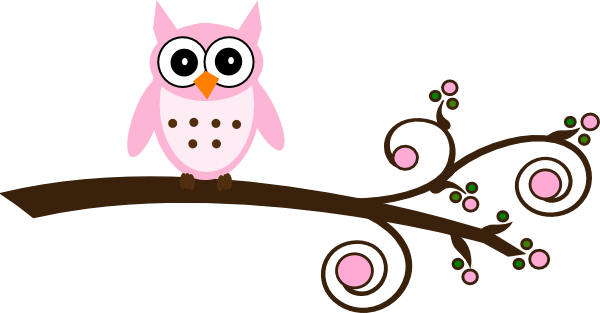 Owls on a branch clipart freeuse download Pink Owl On Branch Clip Art at Clker.com - vector clip art ... freeuse download