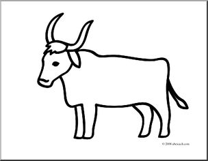 Ox clipart coloring banner royalty free stock Clip Art: Basic Words: Ox (coloring page) I abcteach.com ... banner royalty free stock