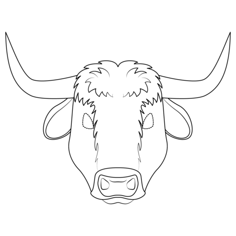 Ox clipart coloring freeuse Ox Mask coloring page | Free Printable Coloring Pages freeuse