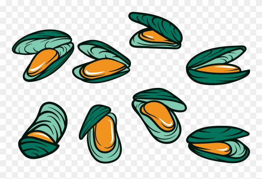 Oystdr clipart clip royalty free Mussel Seafood Squid Clip Art Cartoon Nail - Oyster Cartoon ... clip royalty free