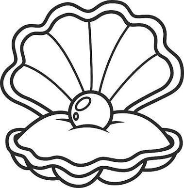 Oyster shell clipart clipart freeuse Resultado de imagem para oyster shell clip art   Worksheet ... clipart freeuse