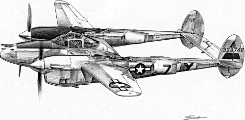 P-38 clipart picture stock P-38 Lightning sketch - /armed_services/airplanes/retired/P ... picture stock