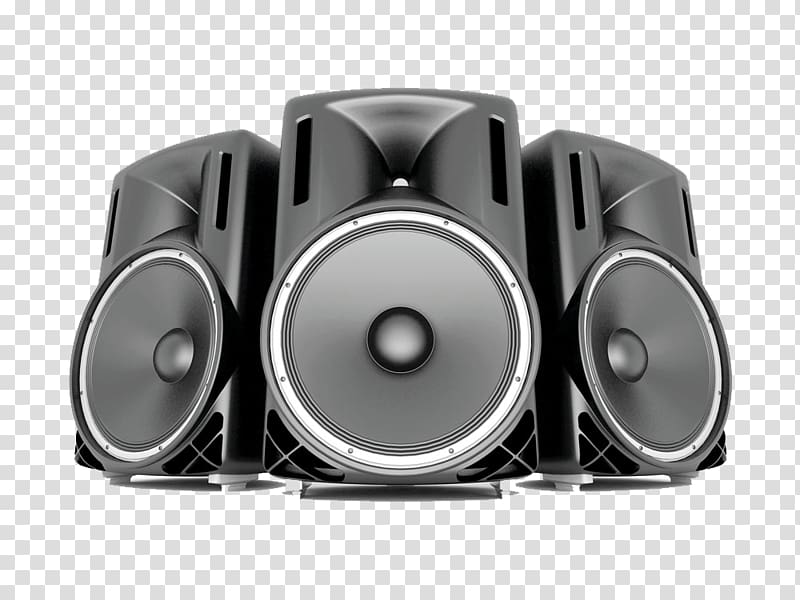 Pa system clipart clip art black and white download Three gray speaker illustration, Loudspeaker Icon, Big Horn ... clip art black and white download
