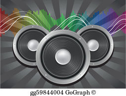 Pa system clipart svg freeuse library Sound System Clip Art - Royalty Free - GoGraph svg freeuse library
