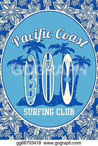 Pacific coast clipart clip art stock EPS Vector - Pacific coast surfing club. Stock Clipart ... clip art stock