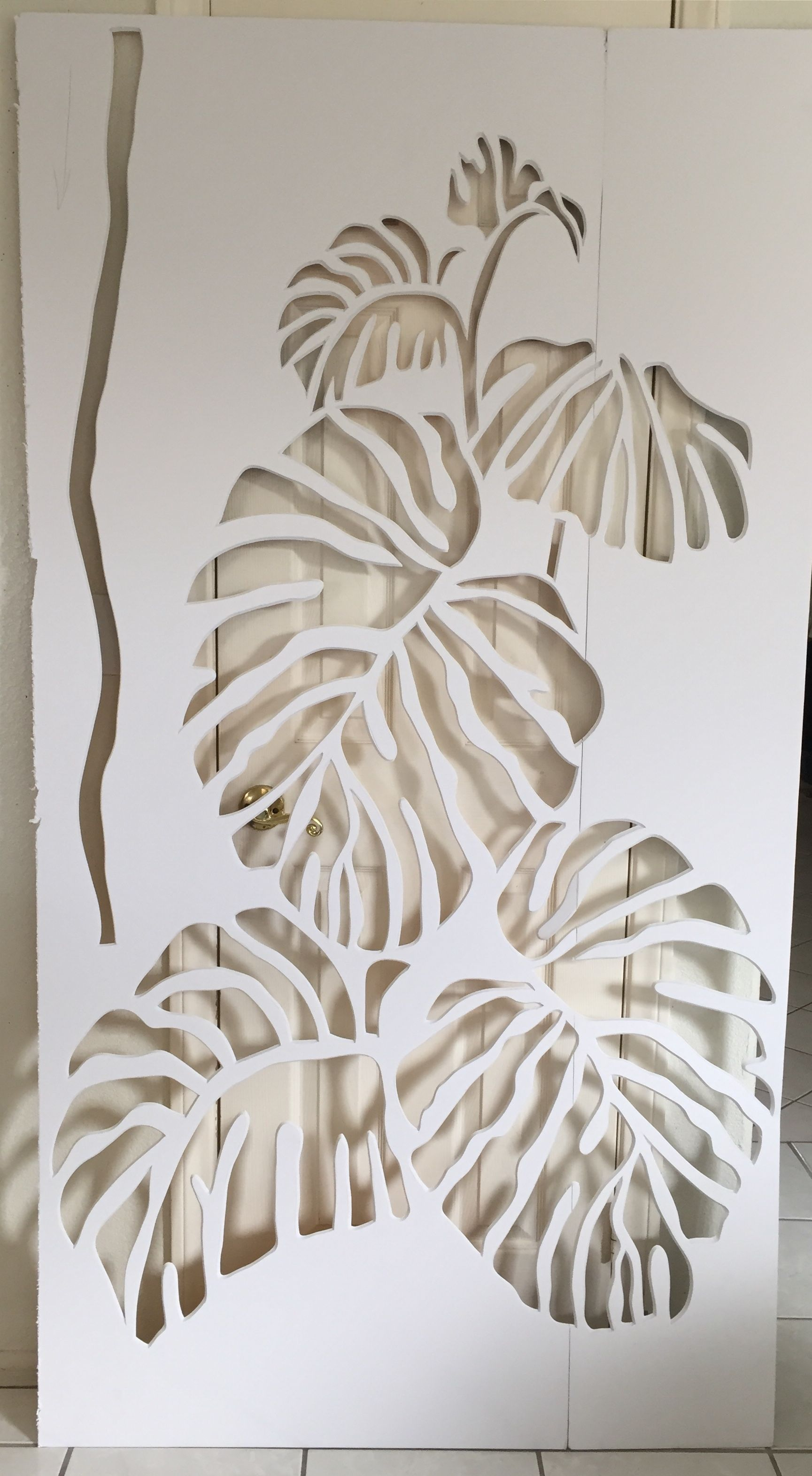 Pacific foam clipart graphic free library PACIFIC PARADISE philodendron homemade stencil made out of ... graphic free library