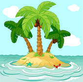 Pacific island clipart vector Clipart desert island - ClipartFest vector