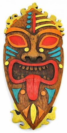 Pacific island clipart clipart library library Pacific Island Tribal Art 18 inch Wall Mask Tiki   eBay   I Want ... clipart library library