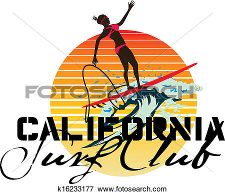 Pacific ocean logo clipart graphic black and white Clip Art of pacific ocean surfer girls vector art k16233177 ... graphic black and white