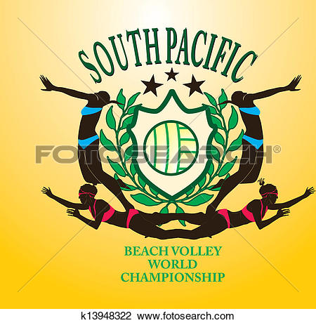 Pacific ocean logo clipart jpg free download Clipart of south pacific ocean beach volley vector art k13948322 ... jpg free download