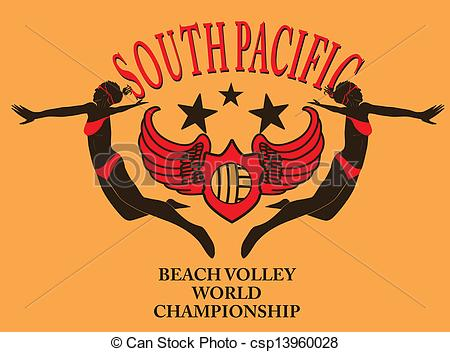 Pacific ocean logo clipart picture transparent stock Vector Illustration of south pacific ocean beach volley vector art ... picture transparent stock