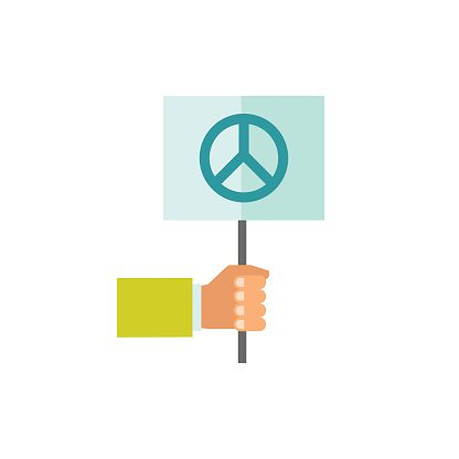 Pacifism clipart banner freeuse stock Hand Holding Pacifist Sign premium clipart - ClipartLogo.com banner freeuse stock