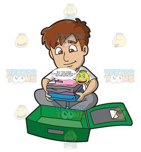 Pack a suitcase clipart clipart library download A Man Packing His Suitcase clipart library download