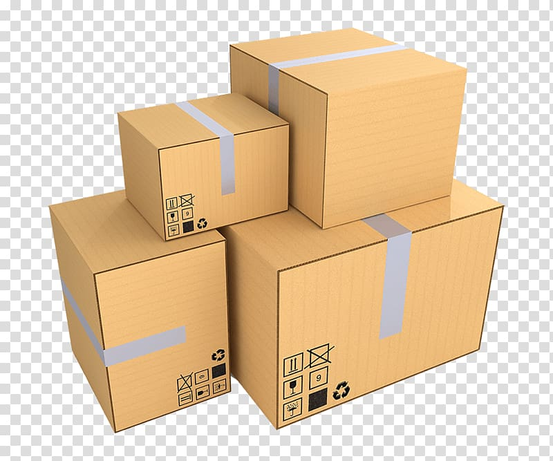 Packing boxes clipart image transparent download Brown cardboard boxes, Paper Mover Box Packaging and labeling, Box ... image transparent download