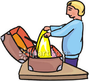 Packingsuticase clipart svg stock A Person Packing a Suitcase - Royalty Free Clipart Picture svg stock