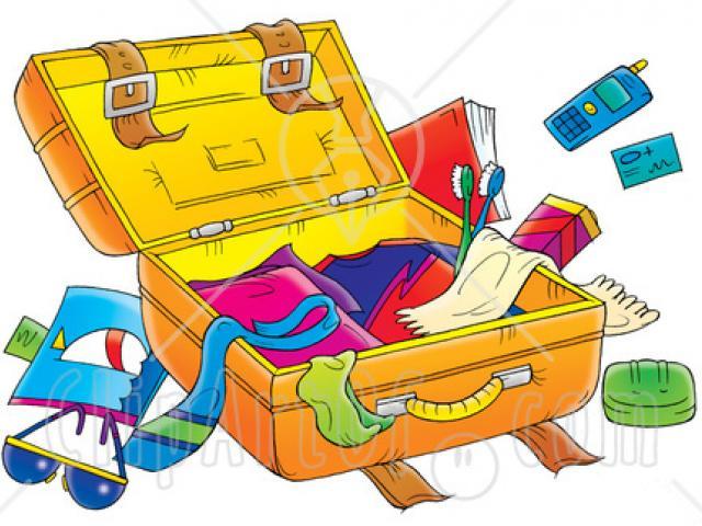 Packing suitcase clipart clipart transparent Suitcase Clipart packed suitcase 2 - 1300 X 1300 Free Clip Art stock ... clipart transparent