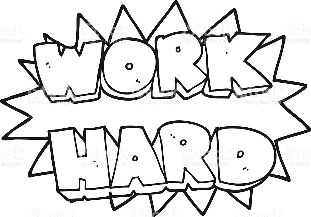 Paerints work hard clipart for coloring freeuse library Hard Working Clipart Black And White freeuse library