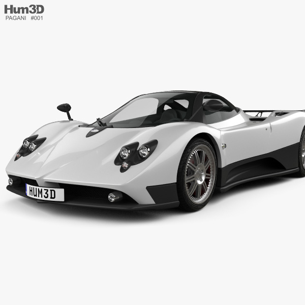 Pagani huayra clipart picture library download Pagani Zonda F 2005 3D model picture library download