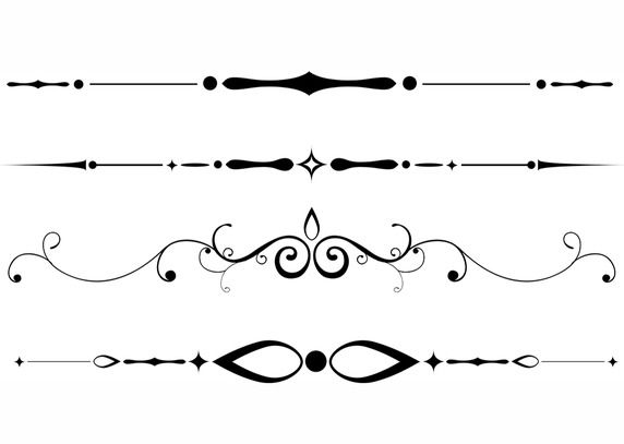 Page divider clipart black swirl free jpg free stock Free Downloadable Dividers | Work | Text frame, Page dividers ... jpg free stock