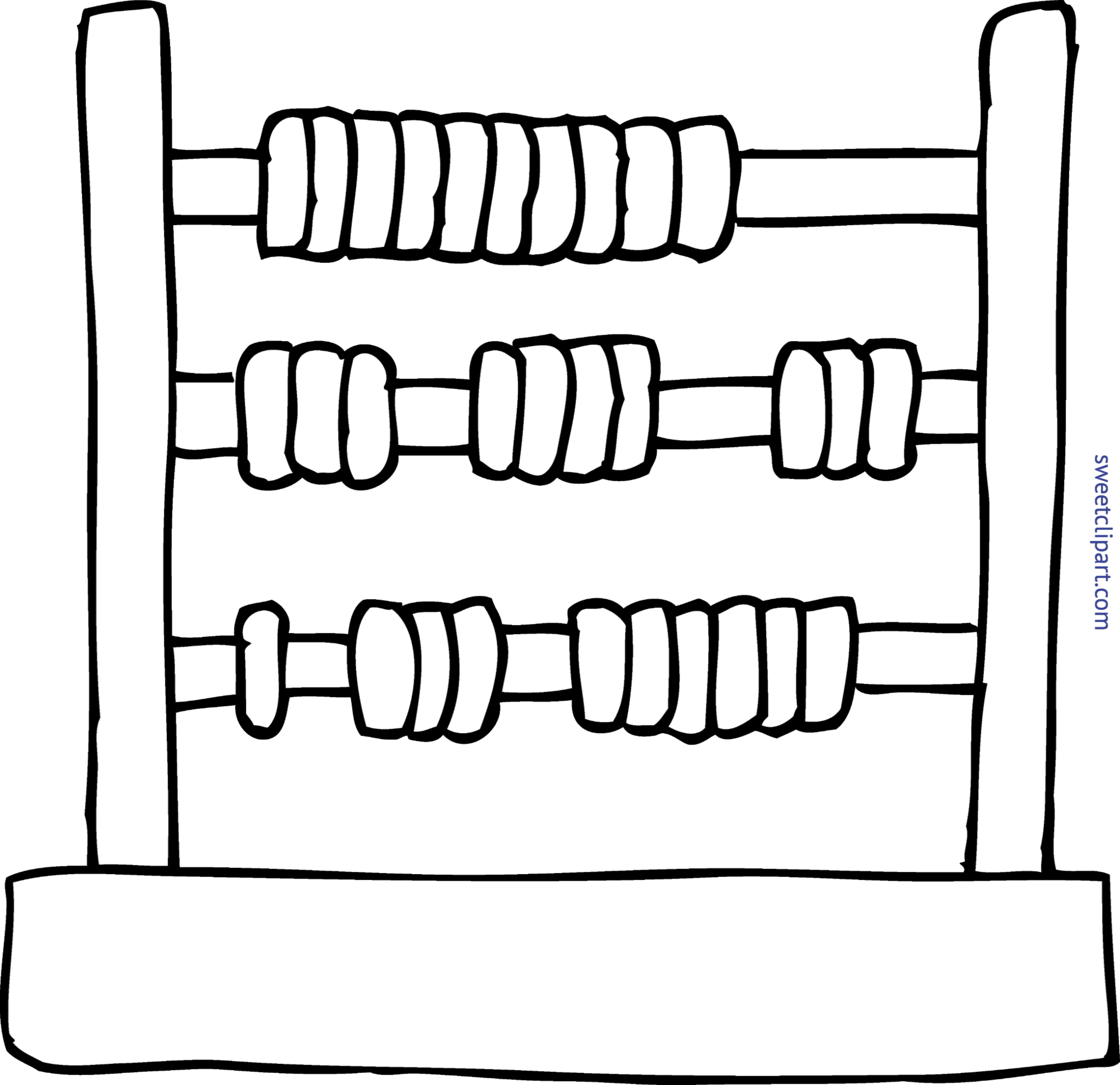 Page of book clipart vector Abacus Coloring Page Clip Art - Sweet Clip Art vector