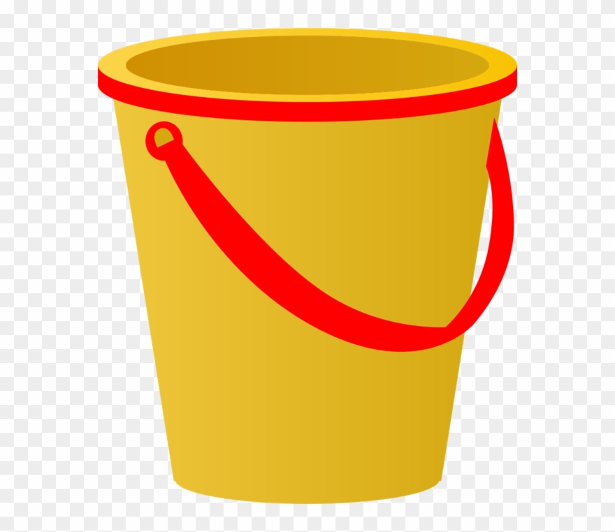 Pail clipart vector free library Yellow Sand Pail With Red Accents Vector Clip Art - Pail ... vector free library