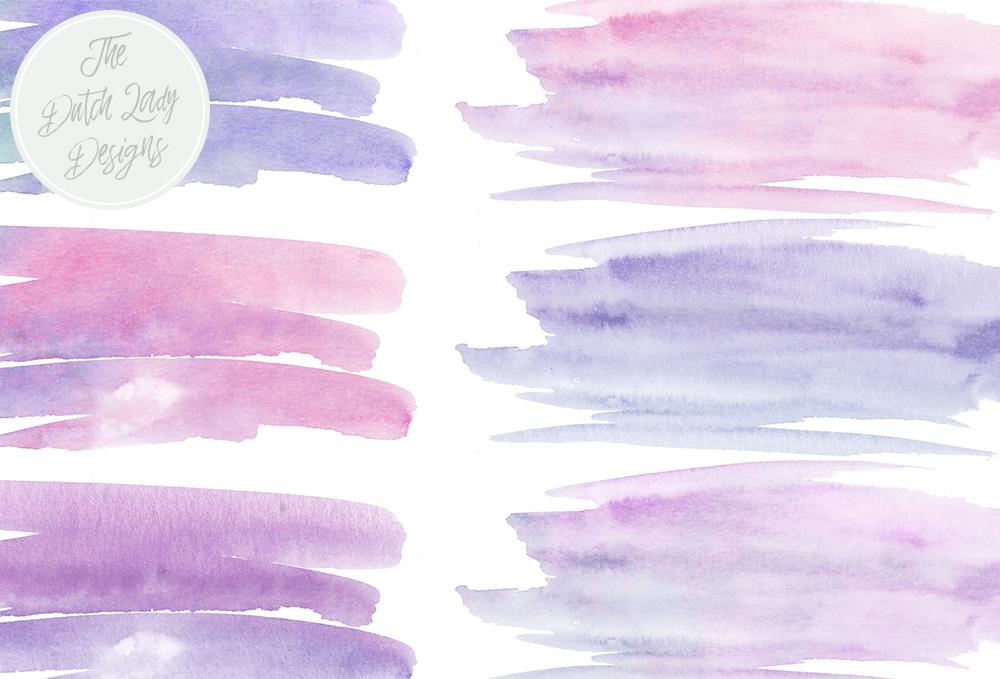 Paint brush stroke clipart clip free Paint Brush Stroke Clipart - Purple Watercolor clip free