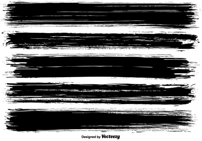 Paint brush strokes clipart black and white freeuse library Vector Dirty Brush Strokes - Download Free Vectors, Clipart Graphics ... freeuse library